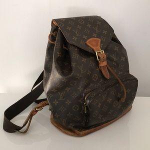Auth VTG Louis Vuitton Montsouris GM Backpack